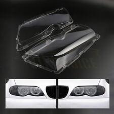 Pair L+R For 02-06 BMW E46 320i 325i 325xi 4D Headlight Lens Cover Polycarbonate