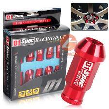 Set of 20 Pcs D1SPEC Red Light Weight Billet Racing Wheel Lug Nut M12x1.25