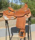 """Broken Horn Show Saddle Close Contact Engraved Silver 15"""""""