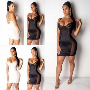 Women's Sexy Bodysuit Lingerie Underwear Sleepwear Nightwear Bodycon Mini Dress
