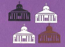 CHURCH BASILICA  # 2 die cuts scrapbook cards