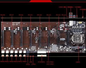 ONDA B250 D8P Motherboard Mining 8 PCI-E DDR3 1600/1333MHz LGA1151 Riser ETH BTC