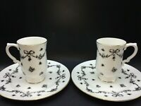 VTG ROYAL VICTORIA Fine Bone China Footed Coffee Tea Cup Mug Luncheon Set
