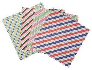 JAPANESE Origami 100 Sheets 150 mm x 150 mm 4 Colours French Theme Striped