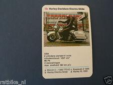 8-MOTOREN 1B HARLEY-DAVIDSON ELECTRA GLIDE  KWARTET KAART MOTORCYCLES,SPIELKARTE