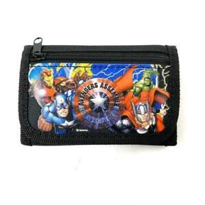 Marvel Avengers Wallet Kids Coin Bag Tri-Fold  Boy Licensed Product