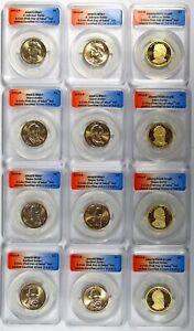 12 Coin Set 2011-PDS U.S. Mint Presidential Dollars ANACS MS67 & PR69