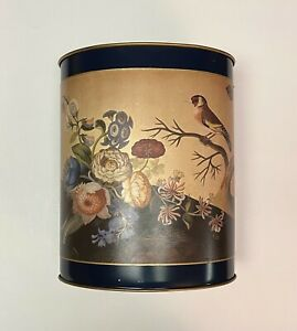 Lady Clare Waste Paper Bin Bird and Floral pattern Metal Made in England