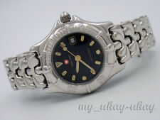 SWISS ARMY 7690 Black Dial All Stainless Steel Ladies Date Watch