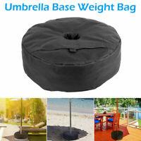 "Umbrella Base Stand 18"" Round Weight Sand Bag for Outdoor Patio Garden Black"