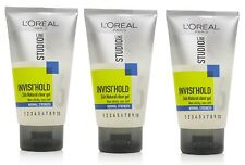 3 X L'oreal Paris STUDIO Line New INVISI' HOLD Natural Clear Gel NORMAL 150ml