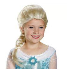 Disney Cosplay Wig Frozen Doll Elsa Anna Snow Princess Blonde Hair Girl