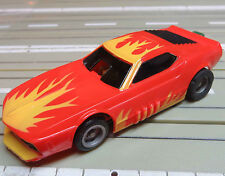 For H0 Slotcar Model Railway -- Funny Camaro with Tyco Chassis + 2 New Tyres
