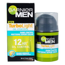 Men Turbo Light 12H Shine Control Whitening Serum Face Oil Control Cream Gernier