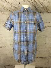 Para hombres Camisa Informal de Verano de Franela de cuadros de Gap XS (1033)