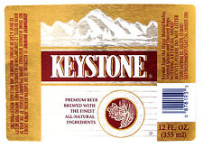 Coors Brewing Co KEYSTONE PREMIUM BEER label CO 12oz
