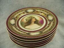 Set of 6 Schwarzburg Vienna Portrait plates