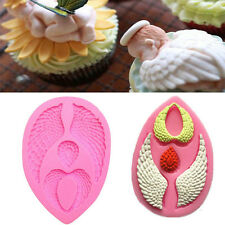 3D Baby Angel Wing Silicone Mould Cake Chocolate Candy Mold Modeling Decor NEW