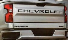 2019-2020 Chevrolet Silverado Trunk word blackout INSERTS - MATTE BLACK