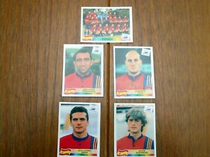 PANINI  FRANCE 98 (1998) WORLD CUP RARE SPAIN STICKERS