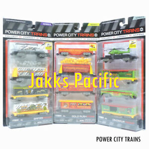 JAKKS POWER CITY TRAINS MODEL TOY 2 SETS