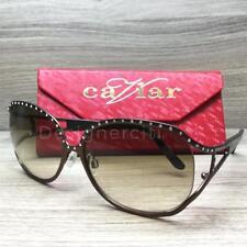 Caviar M2004 Sunglasses Brown Austrian Crystals C16 Authentic 62mm