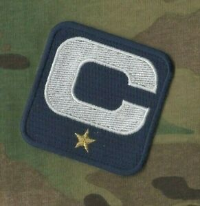 2020-21 Saison CAPITAINE Jersey 1 GOLD  ⭐ Star Captains Bleu Marine