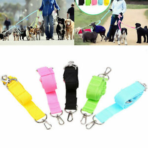 Triple Dog Lead Leash 3 Way Pet Walking Leash Strong Nylon Multiple Leash New