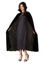 Deluxe Long Velvet Cloak Vampire Dracula Halloween Fancy Dress Costume Cape NEW