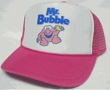 Mr. Bubble Trucker Hat Mesh Hat Snap Back Hat pink