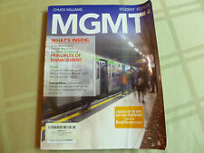 MGMT4 by Chuck Williams (2011, Paperback) - USED - Does NOT include Access Code