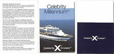 gts Celebrity MILLENNIUM...cruise ship Deck Plan /Pocket Guide