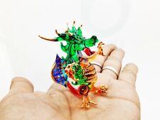 Dragon Fire Figurine Hand Blown made Wing Basilisk European Animal Crystal Gift