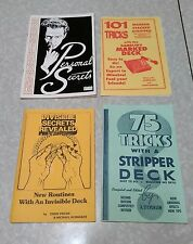 lot of 4 vintage magic card trick books.
