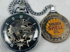 1939 Vintage Girard Perregaux Special Pocket Watch for Shell Oil Co. w/ FOB