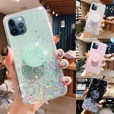 Bling Glitter Sparkle Epoxy TPU Holder Case for Samsung S21 S20 FE Note20 10 8 9