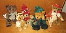 Vintage   Lot of 5  -  BOYDS BEARS   Retired Plush Bears  with Tags