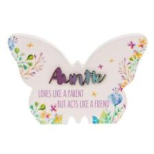 Auntie Gift - Floral Butterfly Colourful plaque with sentiment 66256
