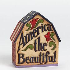 Jim Shore Heartwood Creek Patriotic Barn Land That I Love 4040709 America NEW