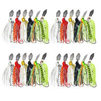 24pcs 17g 0.6oz Chatterbait Blade Bait Silicone Skirt Fishing Jig Bass Lures