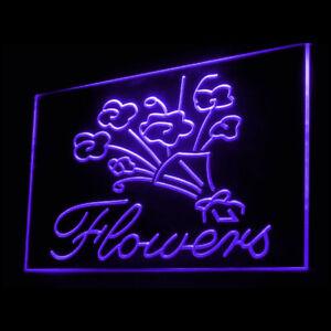 200044 Flowers Florist Stamens Pistils Water Vase Display Neon Sign
