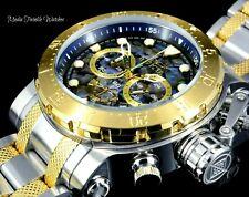 Invicta 52mm Coalition Forces Abalone Dial Quartz Gold Two Tone Bracelet Watch !