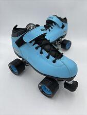 Riedell Dart - Quad Speed Roller Skates 62mm - Blue Black Size 8 Beautiful!! 👀
