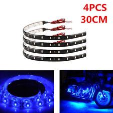 30CM/15 LED Flexible Strip Light Waterproof BLUE For Harley-Davidson Motorcycle
