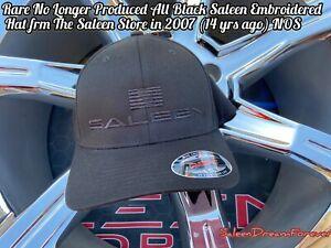 RARE SALEEN STORE ALL BLACK FLEXFIT HAT NOS FRM 07 S281 S302 MUSTANG S331 TRUCK