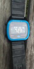 Mens Digital Adidas Watch, Blue And Black Case.