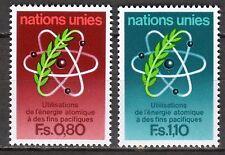 UN - Geneva office - 1977 20 years atomic agency - Mi. 70-71 MNH