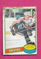 1980-81 OPC  # 250 OILERS WAYNE GRETZKY LOW GRADE  CARD (INV# D3842)