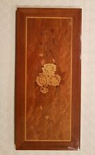Vintage French Inlaid Wooden Picture Frame with Flowers - Marketry