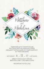 Wedding Invitations Watercolor Floral Box 50 Invitations & RSVP Cards